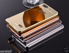 LUXURY METAL FRAME BUMPER+ PC MIRROR BACK CASE COVER FOR HUAWEI HONOR 4C 4 C