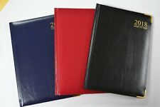 2017 Diary A4 A5 A6 (Page A Day) Week to View (Index) Hardback Edges Corners