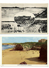 Newquay: B&W and Colour Postcards Multi View And Great Western Beach Devon 1930s