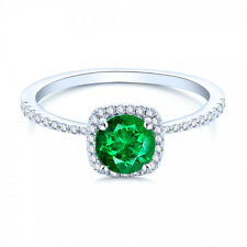 100% Certified Real Natural Diamond Engagement Ring in 925 Silver
