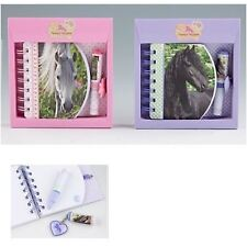 Horses Dreams Note Book with Mini pen in Black  or White  horses Images