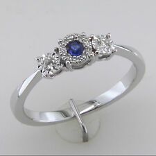 Marvellous Blue Shiny Cubic Zirconia Solitaire Ring In 925 Sterling Silver