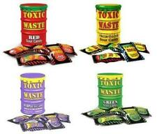 Toxic Waste Barrels Drums Super Sour Sweets Tubs Candy Red Yellow Green Purple