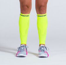 Zero Point Compression Performance Calf Sleeves (Neon Yellow)
