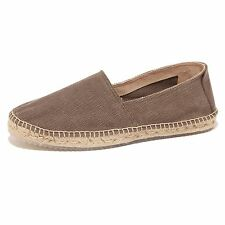 3506P mocassino ESPADRILLES marrone scarpa uomo shoe men