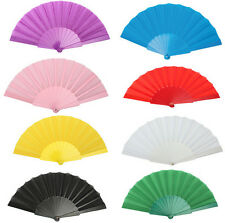 Folding Chinese Party Japanese Dancing Hand Decor Fan Wedding Plastic Portable