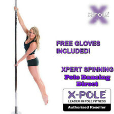 X-Pole SPINNING XPERT - Chrome & Gold 40mm/45mm/50mm Professional Dance Pole