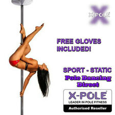 OFFICIAL XPOLE SPORT Static Portable Professional Dancing Pole - FREE GLOVES