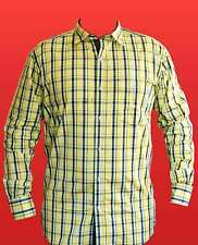 Yellow checks Casual Blended Cotton Shirt for Mens