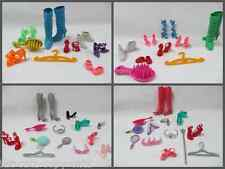 BARBIE DOLL SIZED CLOTHING ACCESSORIES 9 PIECE SETS BOOTS, SHOES HANDBAG COMB UK