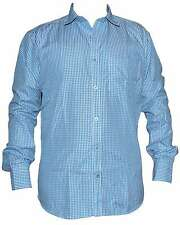 Blue Blended Cotton CHECK Full Sleeve Casual Shirt for Mens