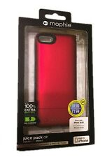 Mophie Juice Pack Air 100% Extra 1700mAh Battery For  iPhone 5 / 5S   Red