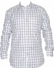 White Blended Cotton CHECK Full Sleeve Casual Shirt for Mens