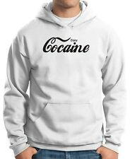 Felpa Hoodie ENJOY0035 Enjoy Cocaine - white