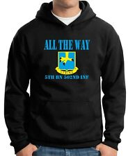 Felpa Hoodie OLDENG00380 all the way 5th bn 502nd inf white