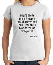 T-shirt Donna CIT0106 I don t like to commit myself about heaven and hell - you