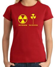 T-shirt Donna T0889 teh problem the solution ecologia fun cool geek