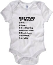 Body neonato T0955 the 7 stages of tequila fun cool geek
