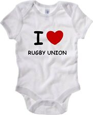 Body neonato TRUG0022 i love rugby union fitted logo