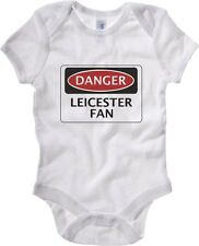 Body neonato WC0295 DANGER LEICESTER CITY FAN, FOOTBALL FUNNY FAKE SAFETY SIGN
