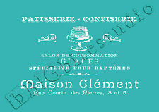 Shabby Chic Stencil – Vintage French Patisserie Advert #024