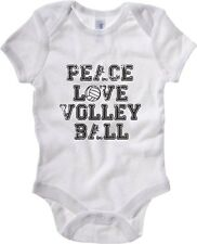 Body neonato OLDENG00208 peace love volleyball