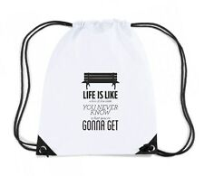 Zaino Zainetto Budget Gymsac  CIT0083 Forrest Gump Life Life is like a box of ch