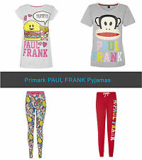 Primark PAUL FRANK Julius Monkey & Food Leggings Pyjama Pants & T Shirt Pieces