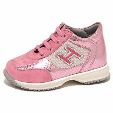 6530P sneaker HOGAN JUNIOR INTERACTIVE H FLOCK rosa scarpa bimba shoe kid