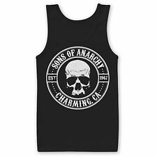 Official Licensed SONS OF ANARCHY SKULL LOGO Vest Tank Top T-Shirt