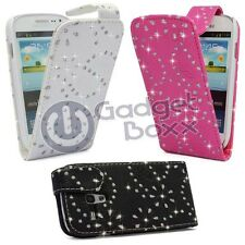 BLING DIAMOND FLIP PU LEATHER CASE COVER IN SAMSUNG GALAXY S3 MINI  GT-I8190
