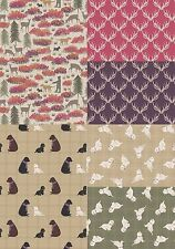 Lewis and Irene A Walk in the Glen Fabric Thistle Scotty Dogs Westies Antlers