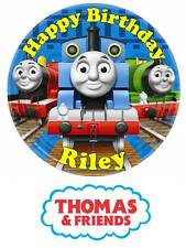 Thomas and Friends Personalized Edible Cake toppers Precut on Icing/Wafer Card