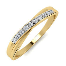 18k Yellow Gold Plated 925 Silver 100% Certified Natural Diamond Wedding Ring