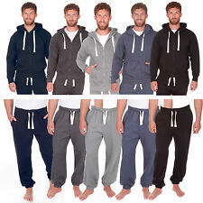 Mens Hoody Plain Hoodies Zip Up Hooded Tops Fleece Bottoms Sweats Pants Trousers