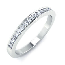 Full Eternity Band Ring 0.25ct Cubic Zirconia 925 Sterling Silver