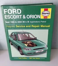Haynes 1737 Workshop Manual Ford Escort and Orion Petrol (Sept 90 - 00) H to X