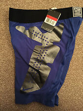 NIKE PRO COMBAT HYPERSTRONG COMPRESSION SLIDER SHORTS (BNWT) BLUE - S,M,L