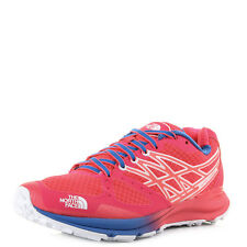 Womens North Face Ultra Cardiac Rocket Red Blue Pink Trail Trainers Sz Size