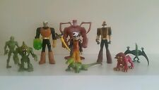 THE SECRET SATURDAYS ACTION FIGURE SET X9  FROM CARTOON NETWORK 2008 RARE IN UK
