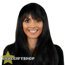 HEAT AND STYLE WIGS STRAIGHT BLACK HEAT RESISTANT HAIRPIECE FANCY DRESS WIG