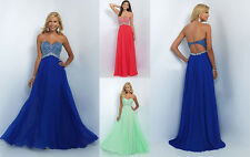 Sexy Beading Chiffon Evening Dresses Cocktail Party Prom Gowns Formal Pageant