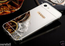 LUXURY METAL FRAME + ACRYLIC PC MIRROR BACK CASE COVER For Oppo F1S