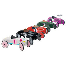Charles Bentley Retro Vintage Metal Racing Ride On Car - 5 Colours Available