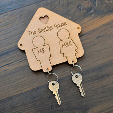 Mr and Mrs Keyring Hooks - Wedding Present Gift Couple Keyrings Him and Her Keys