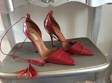 Ladies Red TOPSHOP ankle Tie Heels Size 5 (EUR 38)