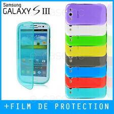 COQUE HOUSSE CASE GEL SILICONE FLIP COVER SAMSUNG GALAXY S3 i9300 - Film Offert