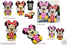 New 3D Cartoon Pink Minnie Mouse Mobile Phone Cover Case Skin for iPod Touch 4th