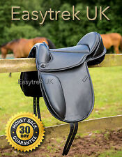 "New Easytrek treeless dressage saddle in black leather 16"" 16.5"" 17"" 17.5"" 18"""
