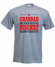 Grandad Mischief T-Shirt, Funny Fathers Day TShirt, Dad Daddy Sizes S-XXL